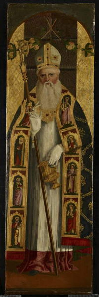 Detail of A Holy Bishop, late 15th century by Alvise Vivarini