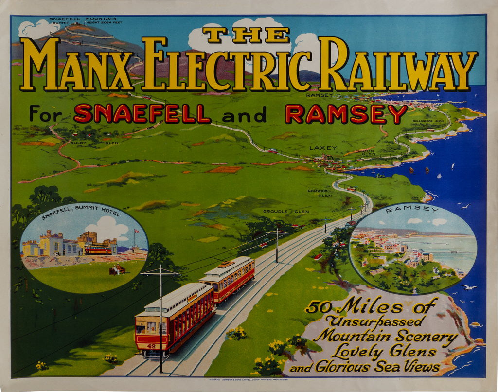 Detail of The Manx Electric Railway for Snaefell and Ramsey by Richard Johnson