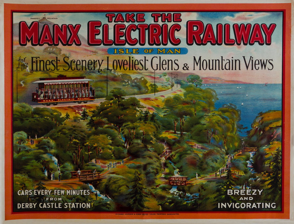 Detail of Take the Manx Electric Railway, Finest Scenery, Loveliest Glens & Mountain Views by Richard Johnson