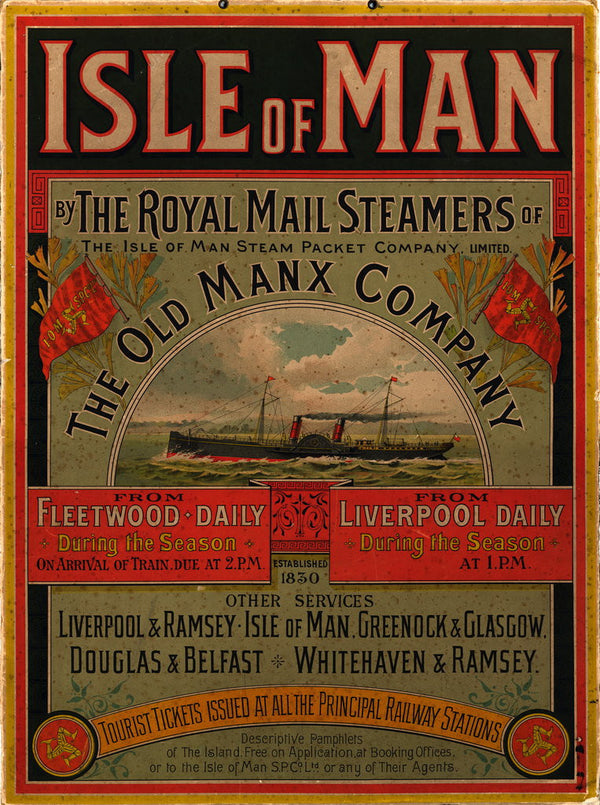 Isle Of Man By The Royal Mail Steamers Of The Old Manx