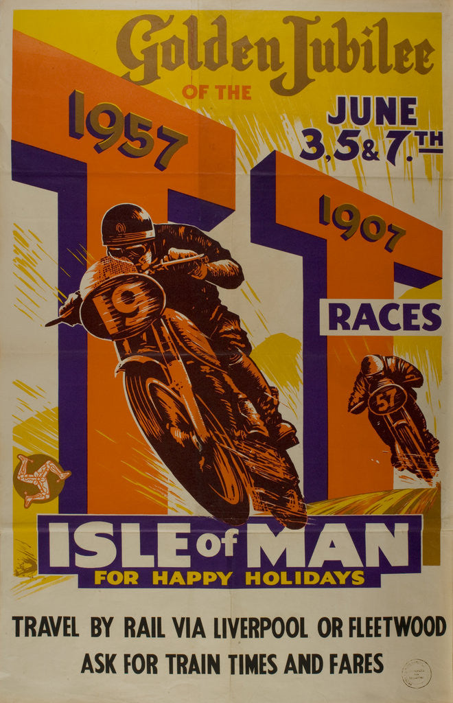 Detail of Golden Jubilee of the TT Races 1907-1957 by Anonymous