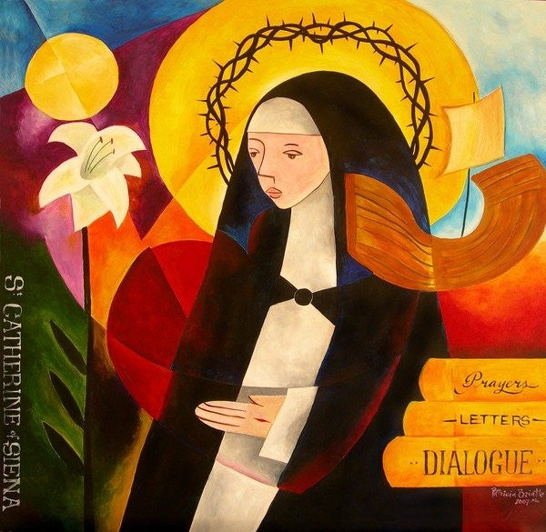 Detail of St. Catherine of Siena by Patricia Brintle