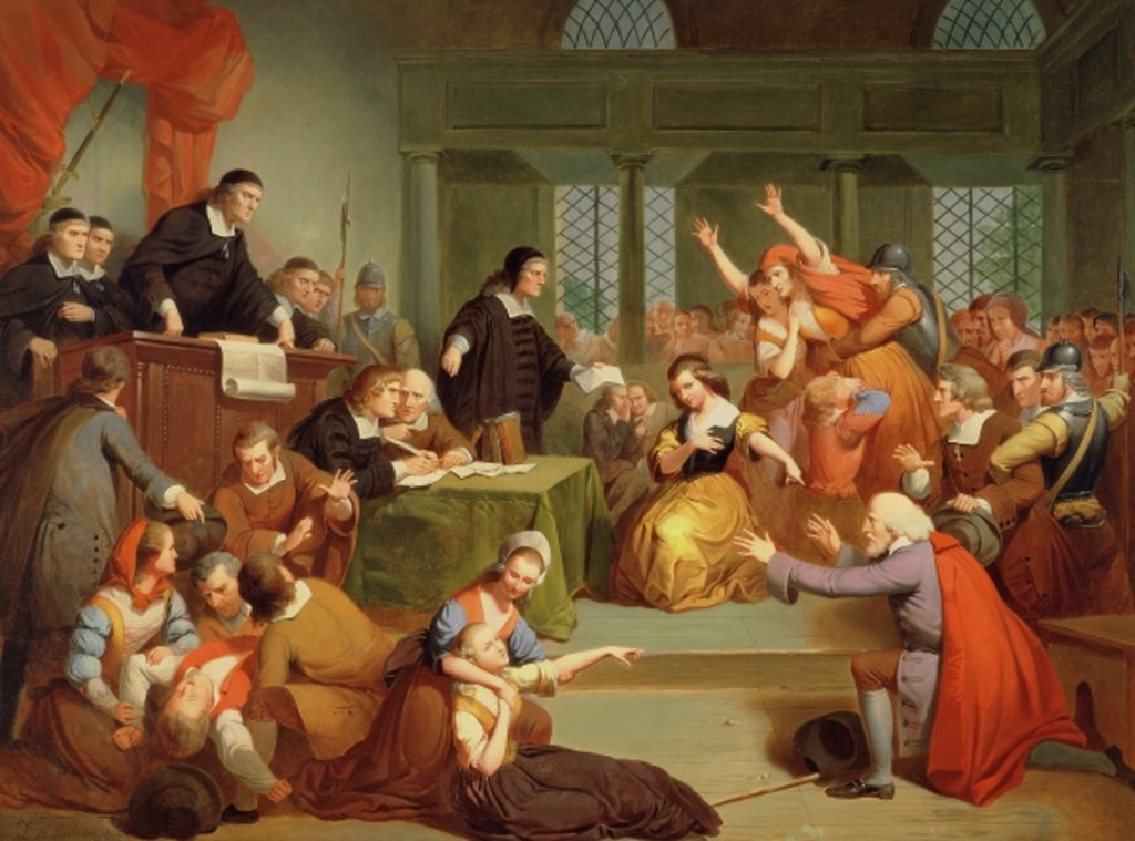 Detail of The Trial of George Jacobs, 5th August 1692, 1855 by Tompkins Harrison Matteson