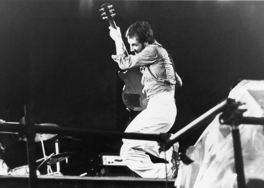 Detail of The Who - Pete Townsend at Parkhead, Glasgow 1976 (2) by Steve Thomson