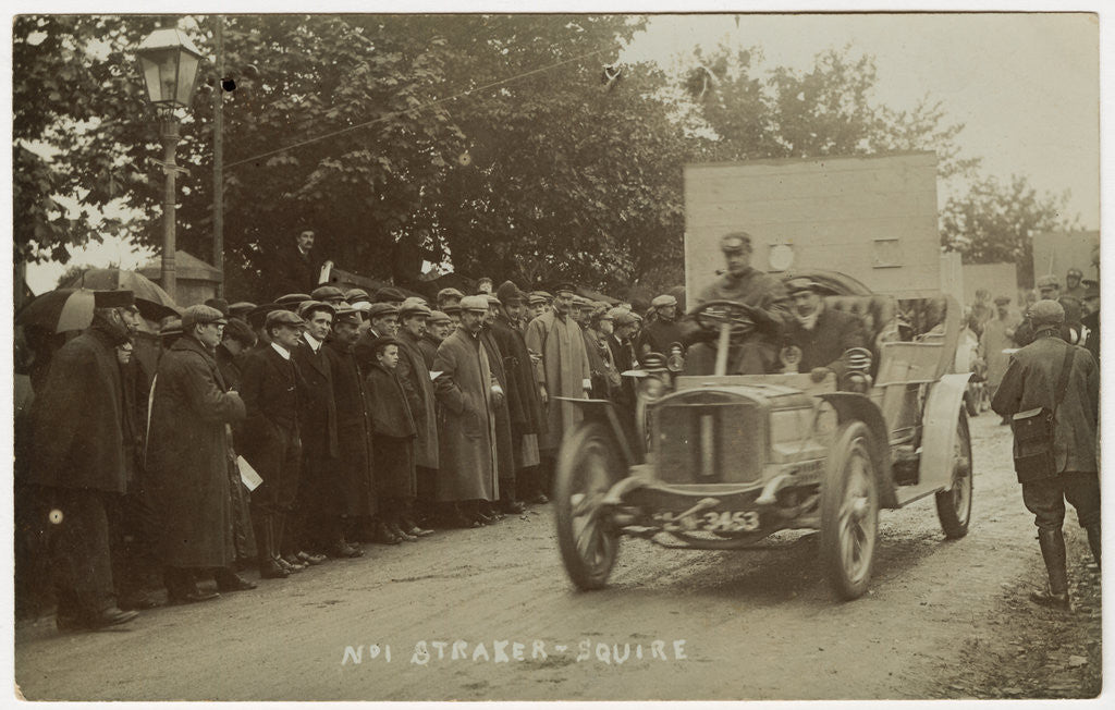 L.R. Squire at the start, 1907 Tourist Trophy Heavy Touring Motorcar race by Anonymous