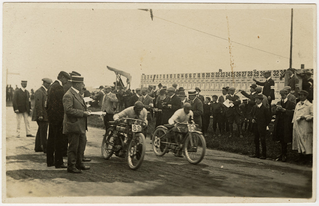 Detail of Start of a race at St John's, 1910 TT (Tourist Trophy) by Anonymous