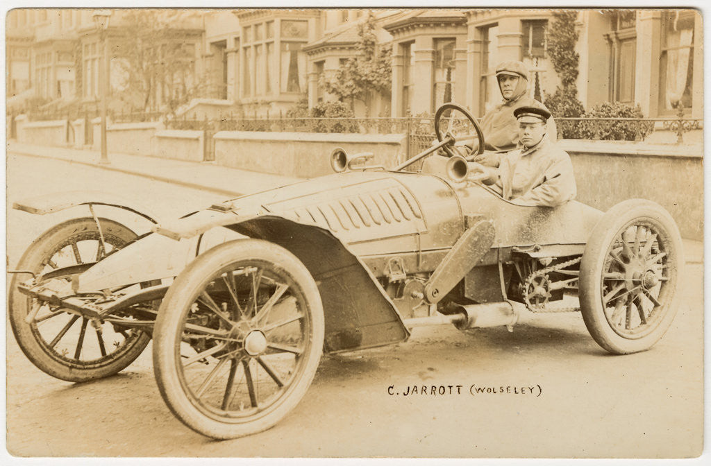 Detail of C. Jarrott in a Wolseley,1904 Gordon Bennett Trials by Anonymous
