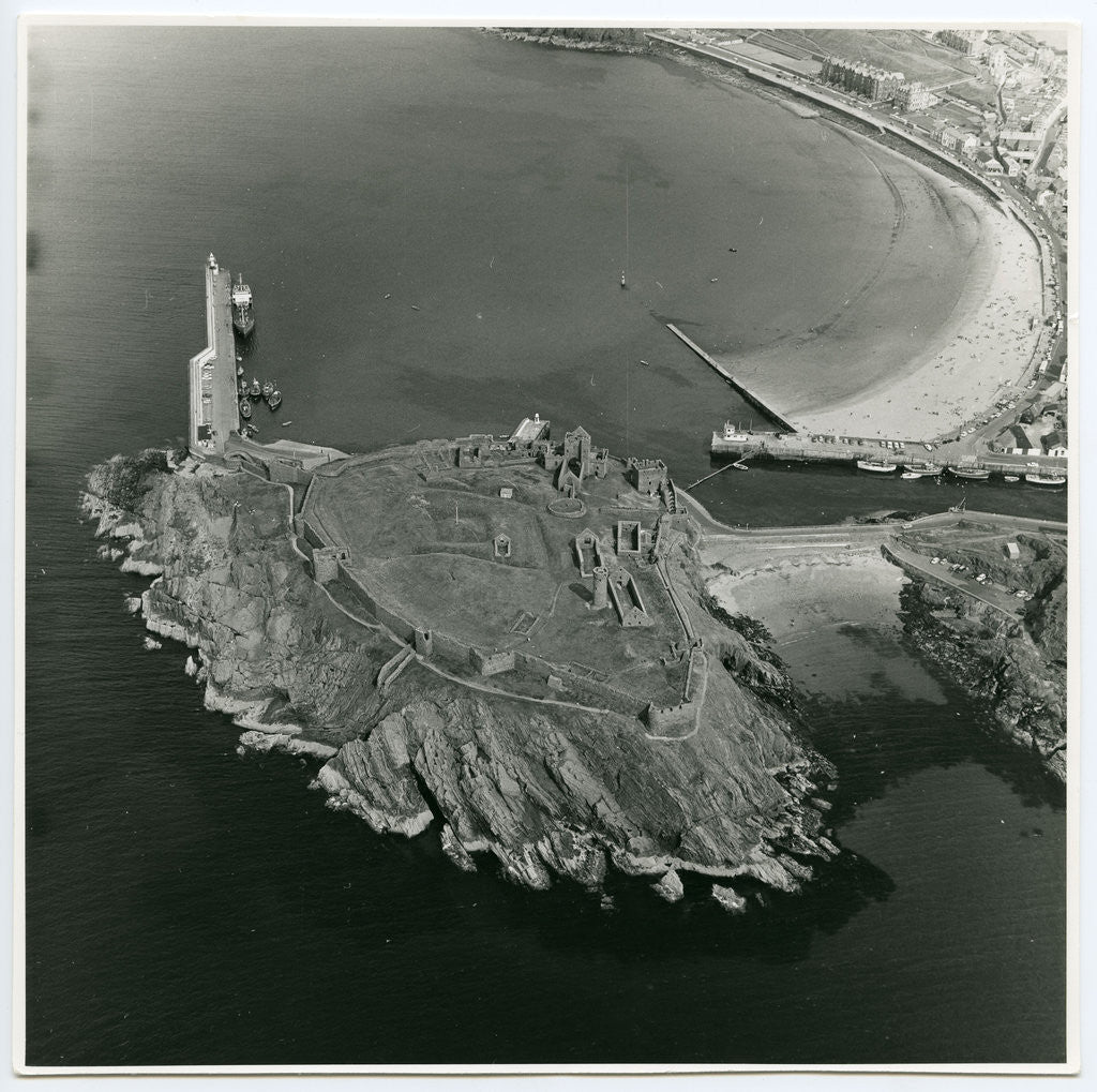 Detail of Aerial view of Peel Castle taken from the west by Manx Technical Publications Ltd
