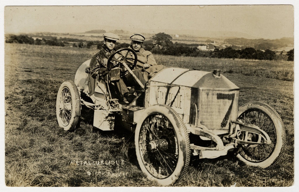 Detail of No.7 Métallurgique, 1908 Tourist Trophy motorcar race by Anonymous
