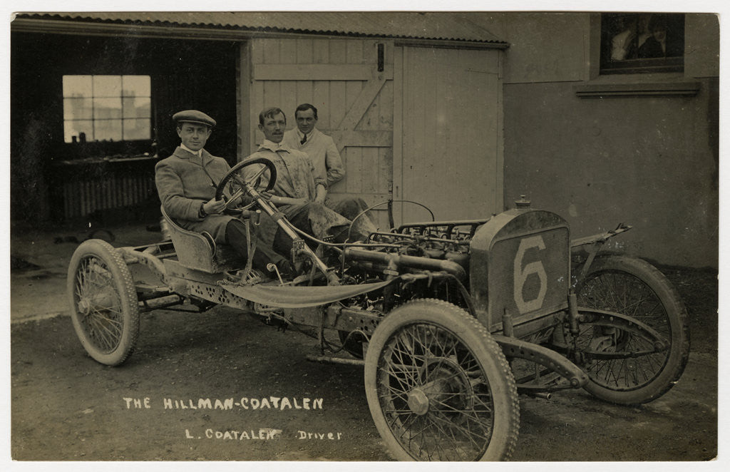 Detail of Louis Coatalen in a Coatalen, 1908 Tourist Trophy motorcar race by Anonymous