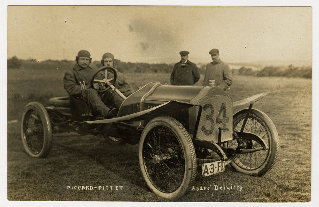 Detail of 1908 Tourist Trophy motorcar race by Anonymous