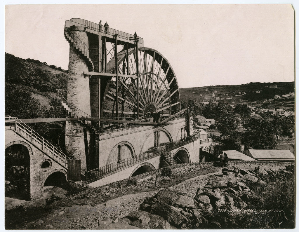 Detail of Laxey Wheel by Collins Series