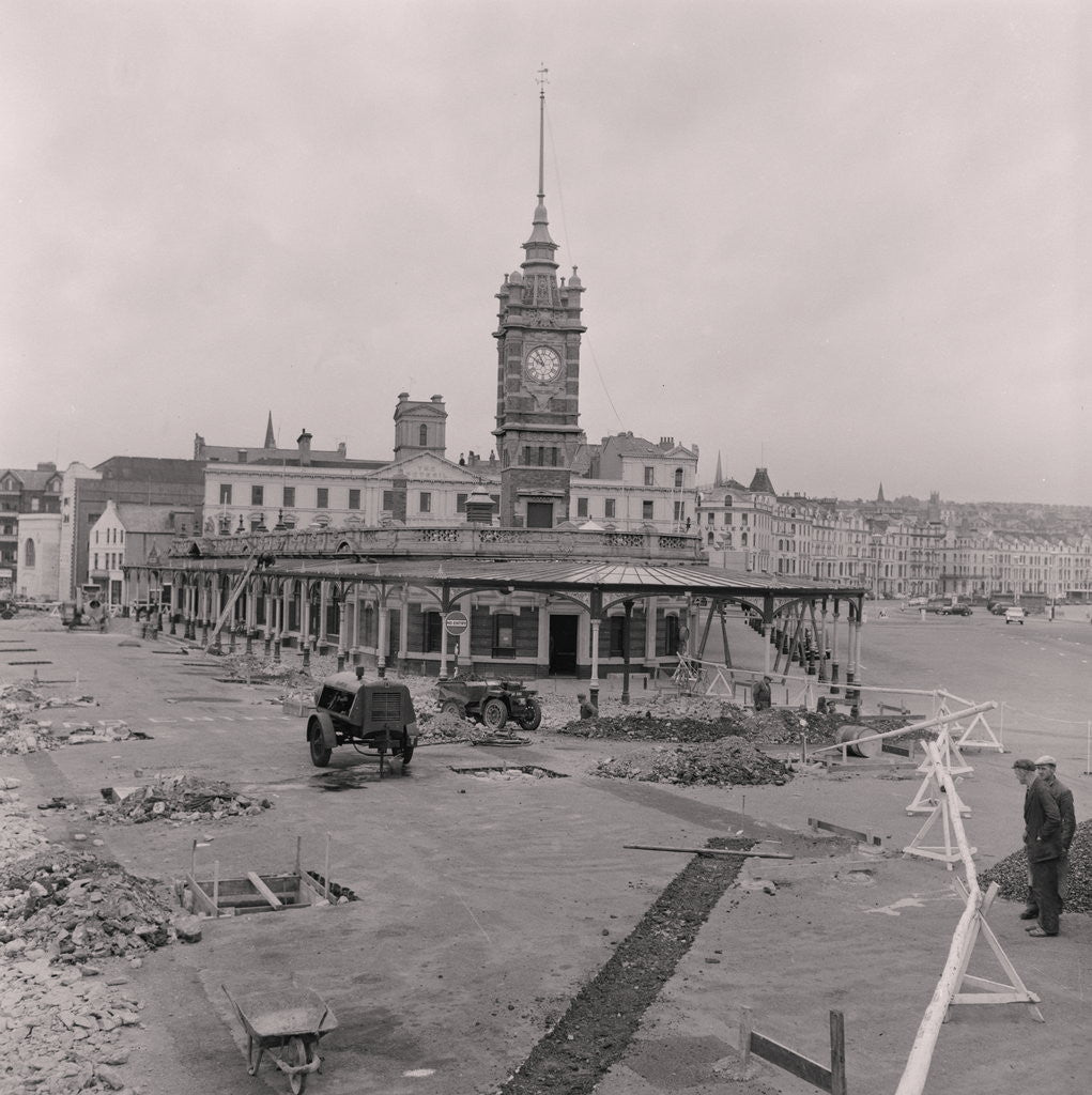 Detail of Sea terminal demolition, Douglas Pier by Manx Press Pictures