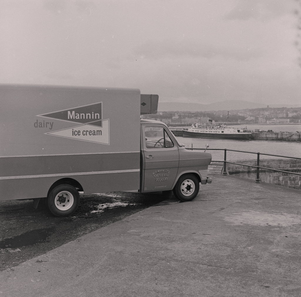 Detail of Mannin ice- cream van, Douglas Head by Manx Press Pictures