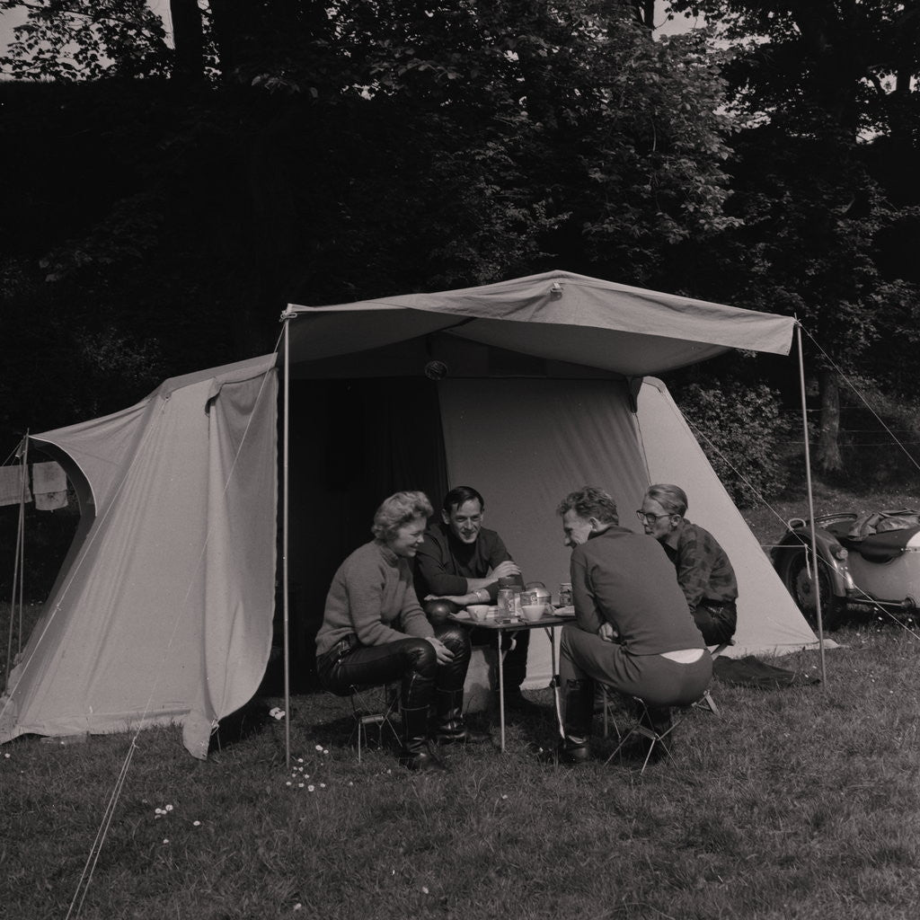 Detail of Camping by Manx Press Pictures