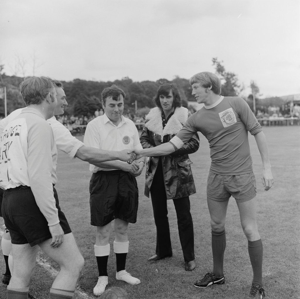 Detail of George Best at charity football match by Manx Press Pictures