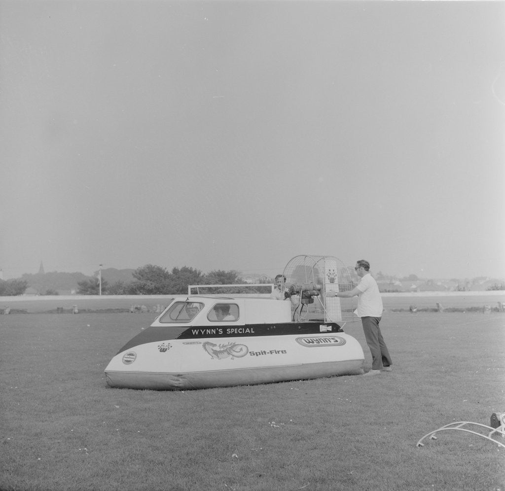 Detail of Hovercraft, Onchan Stadium by Manx Press Pictures