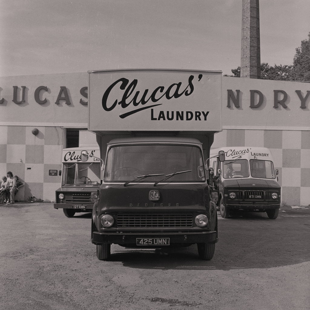 Detail of Clucas' laundry cleaners van by Manx Press Pictures