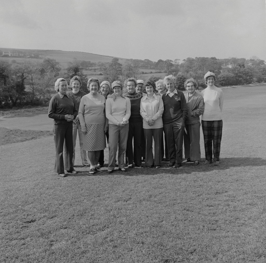 Detail of Lady Golf Champion competitors, Pulrose by Manx Press Pictures