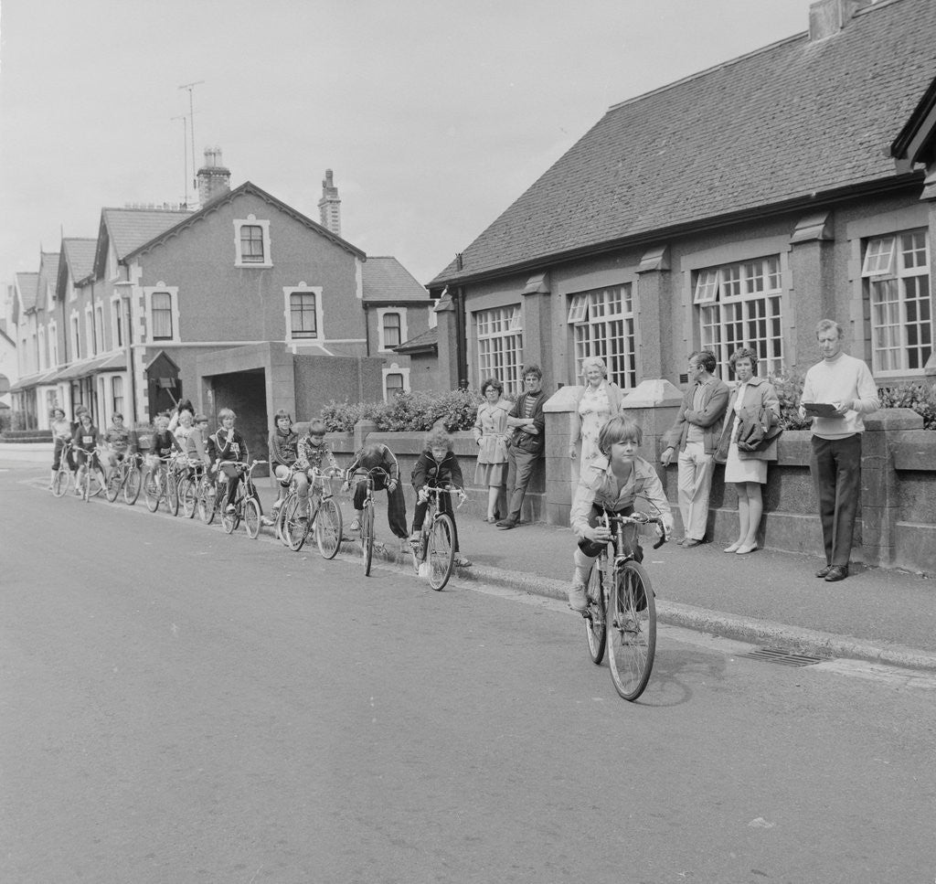 Detail of Cycle proficiency test by Manx Press Pictures
