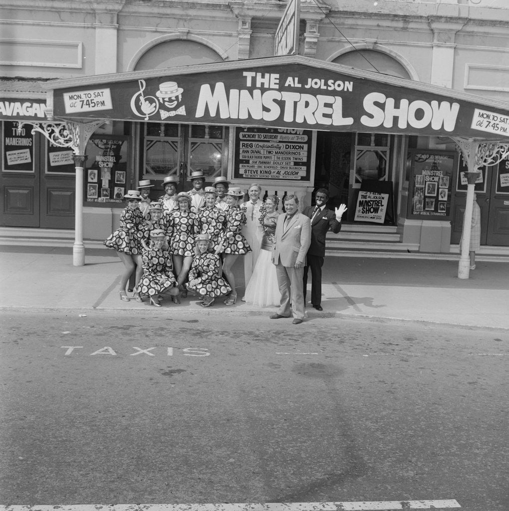 Detail of Al Jolson Minstrel Show, Gaiety Theatre by Manx Press Pictures