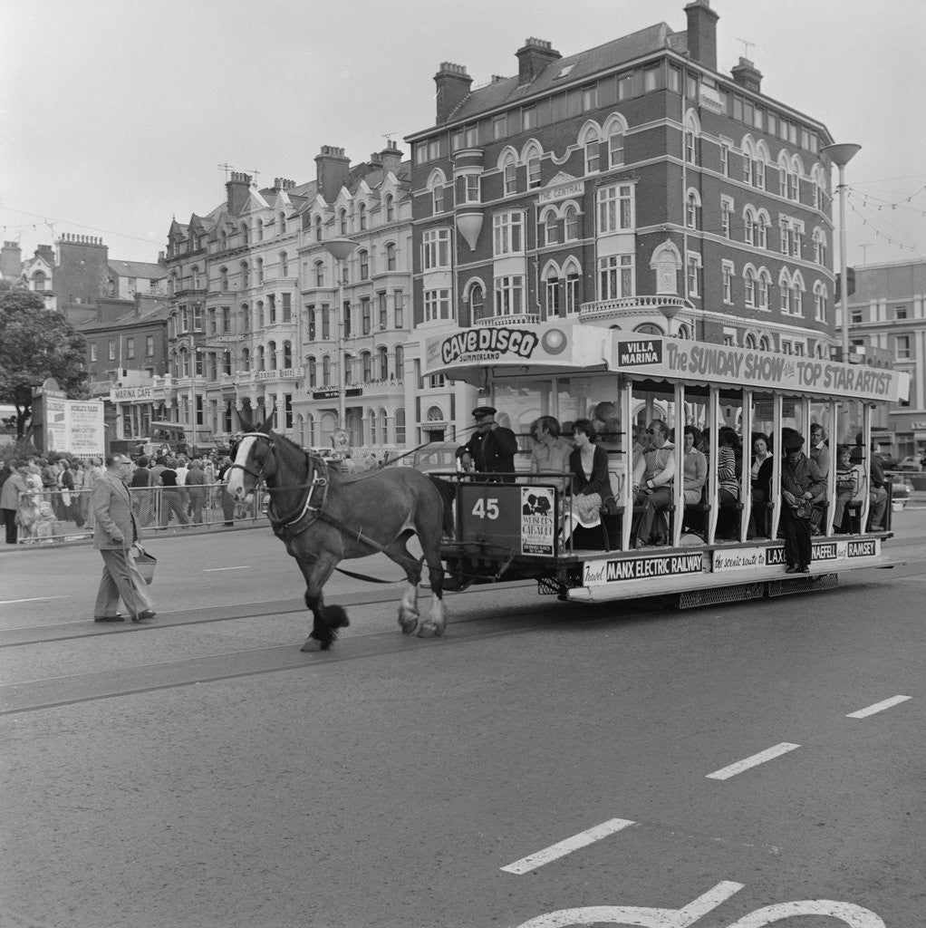 Detail of Horse tram by Manx Press Pictures