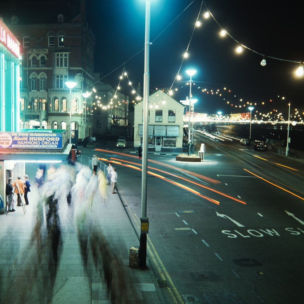 Detail of Douglas at night by Manx Press Pictures