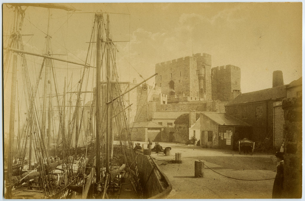 Detail of Castle Rushen and Quayside by Anonymous