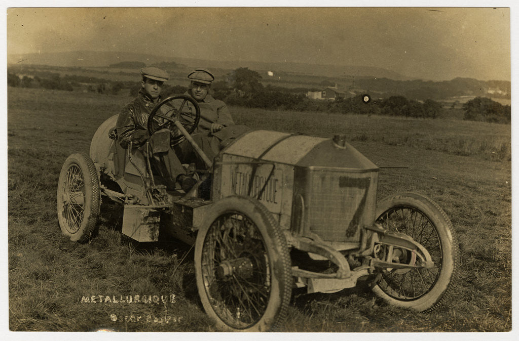Detail of No.7 Metallurcique, 1908 Tourist Trophy motorcar race by Anonymous