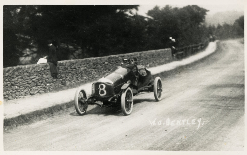 Detail of Motorcar no.8  W.O.Bentley, in a D.F.P. (Doriot, Flandrin & Parant) 1914 Tourist Trophy motorcar race by Anonymous