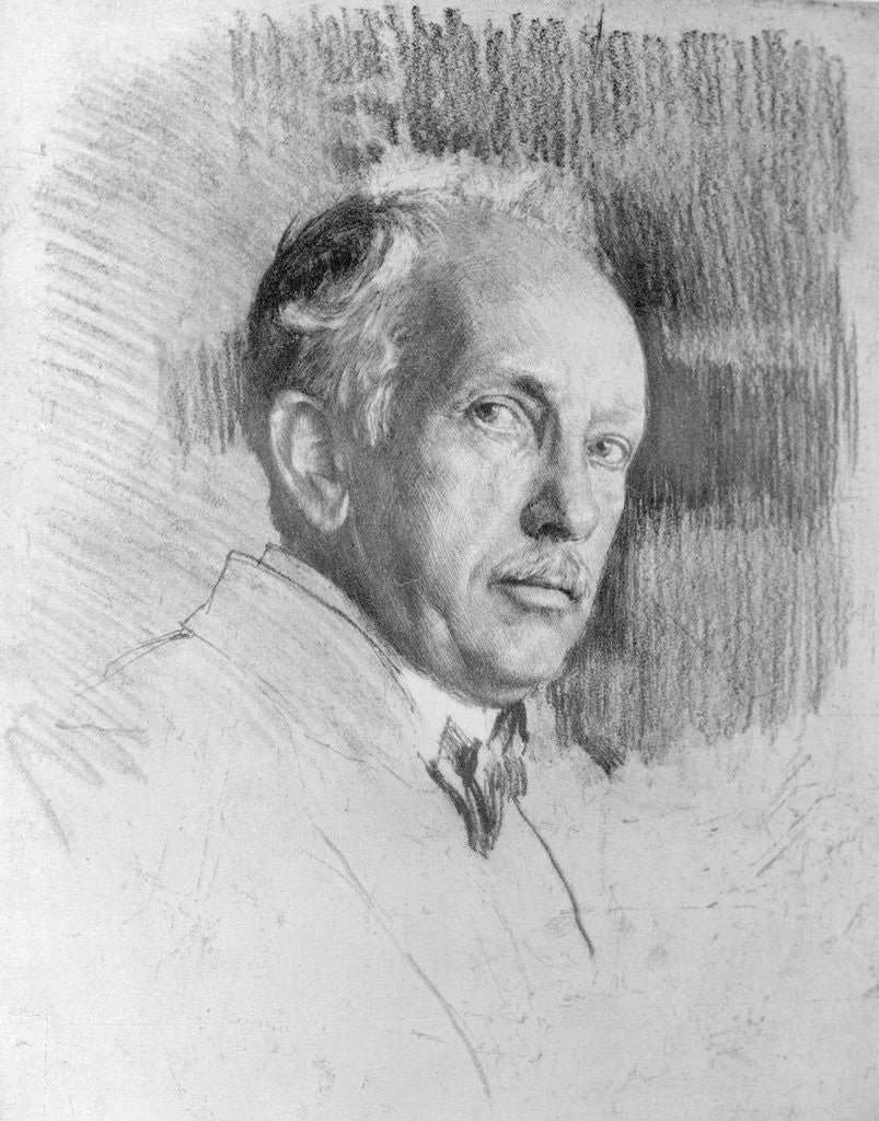 Detail of Drawn Portrait of Composer Richard Strauss by Corbis