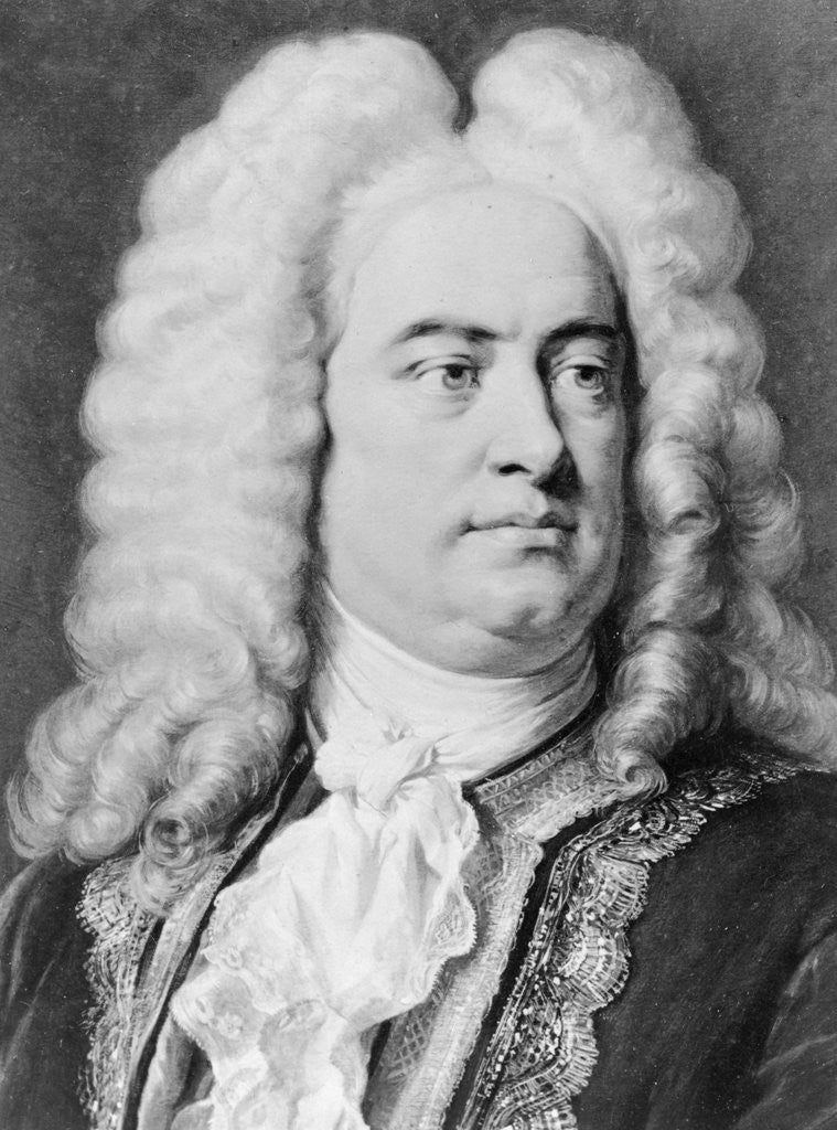 Detail of Drawing of Composer George Frederick Handel by Corbis