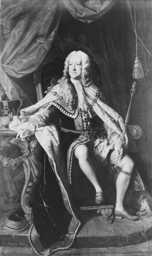 Detail of England's King George II by Corbis