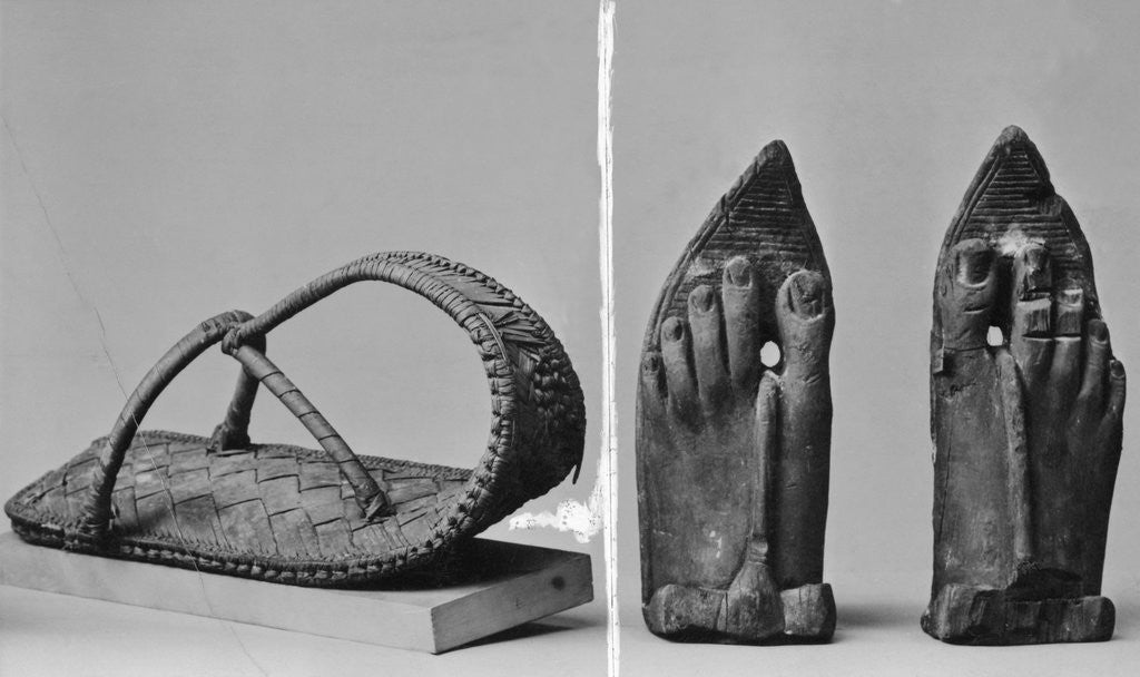 Egyptian Sandals and Sculpted Feet by Corbis
