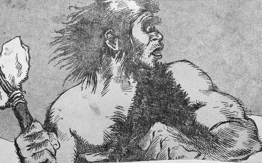 Detail of Illustration of a Caveman by Corbis