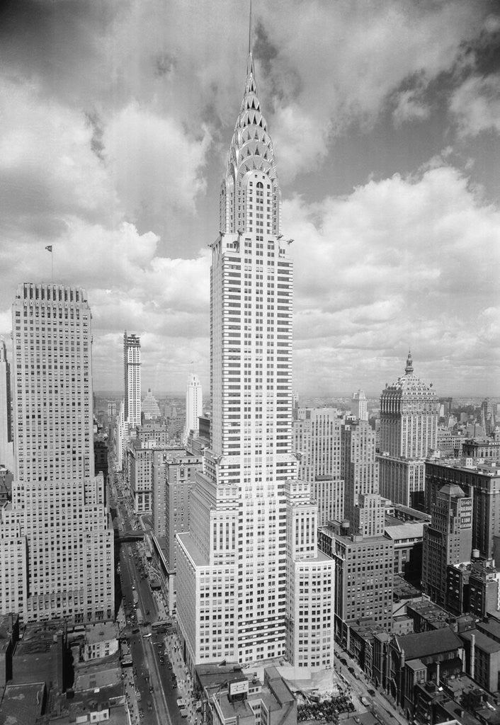 Detail of Chrysler Building in New York City by Corbis