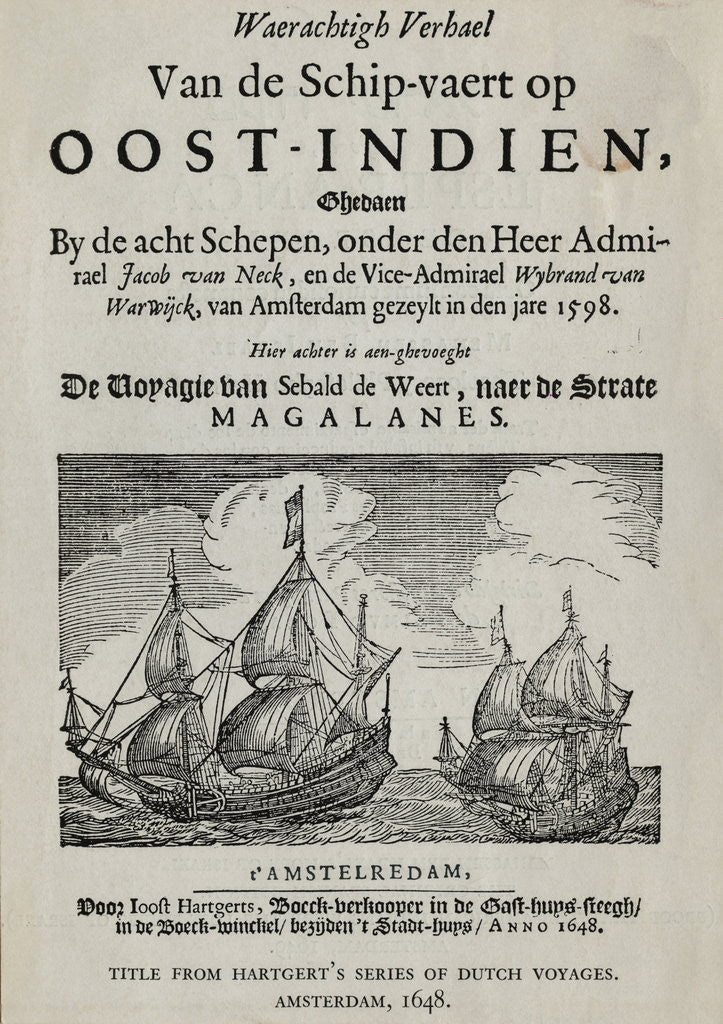 Detail of Book Cover on Dutch Voyages by Corbis