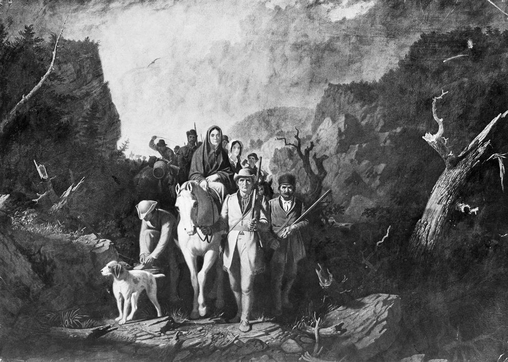 Detail of Early American Pioneers by Corbis