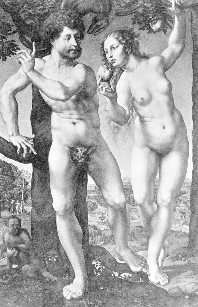 Detail of Adam and Eve by Corbis
