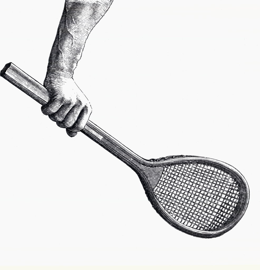 Detail of Illustration Demonstrating Correct Backhand Grip by Corbis