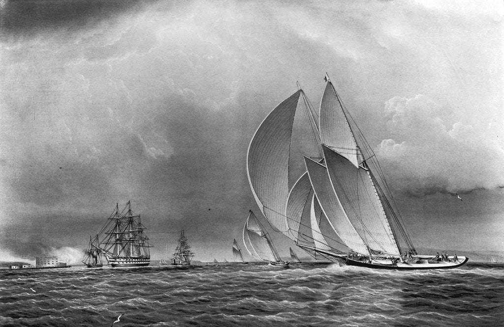 Detail of America Leaving Boston Harbor by Corbis
