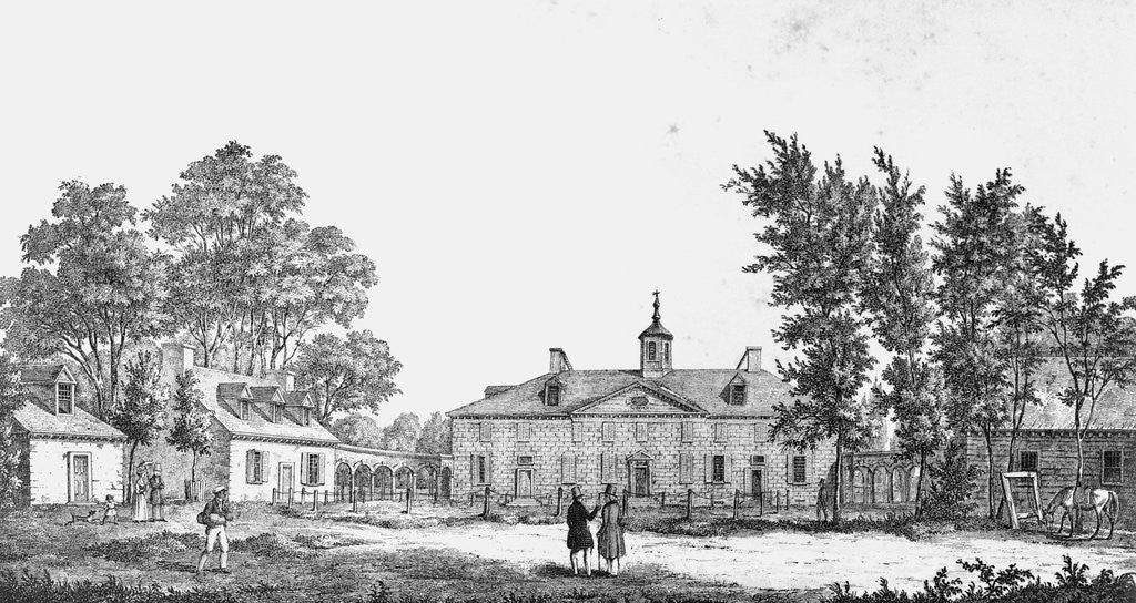 Detail of Exterior of George Washington's Estate by Corbis