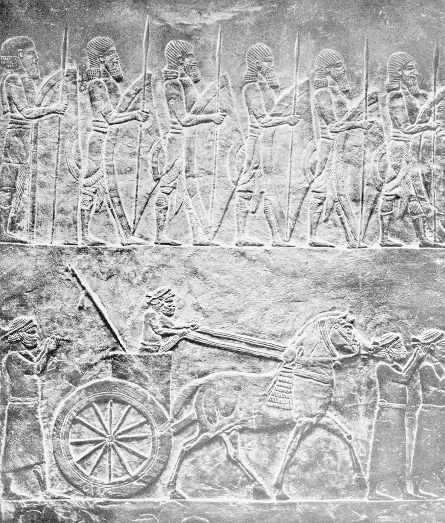 Detail of Carving Depicting Assyrians by Corbis