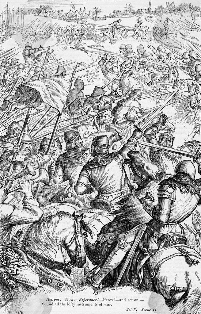 Detail of Battle of Agincourt by Corbis