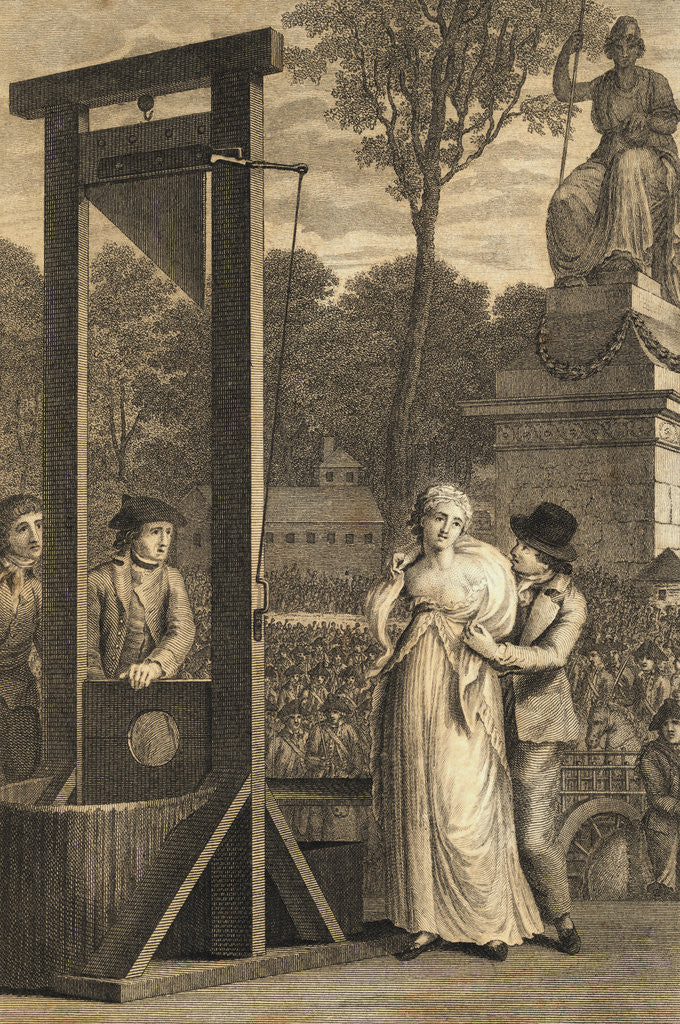 Detail of Charlotte Corday Being Led to Guillotine by Corbis