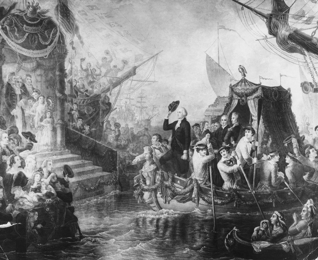 Detail of George Washington Arriving for his Inauguration by Corbis