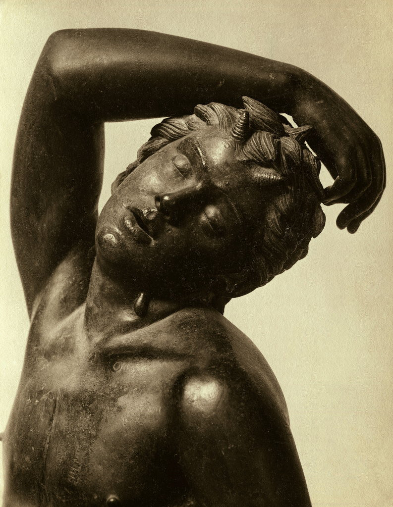 Detail of Head of Sleeping Faun by Corbis