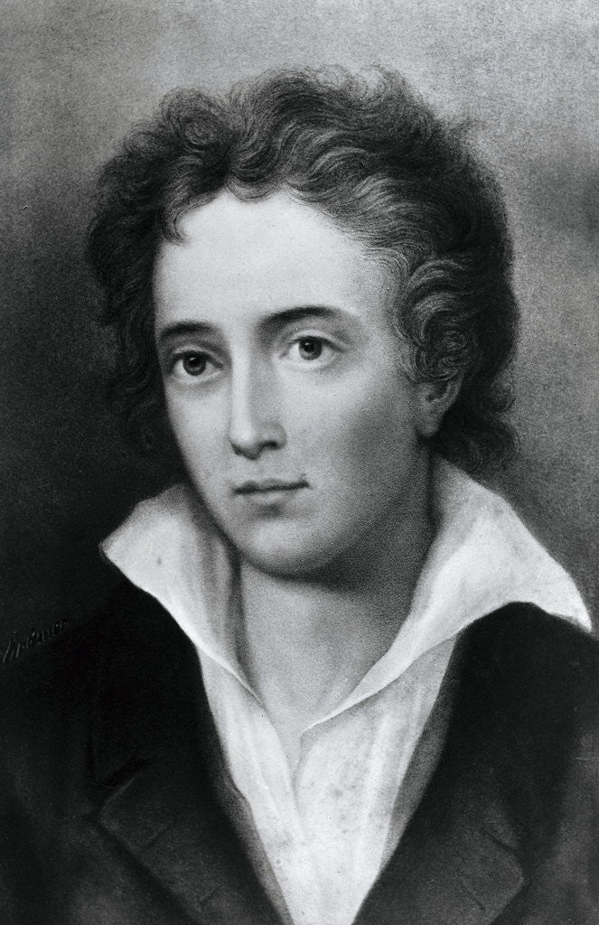 Detail of Engraving After Percy Shelley by George Clint