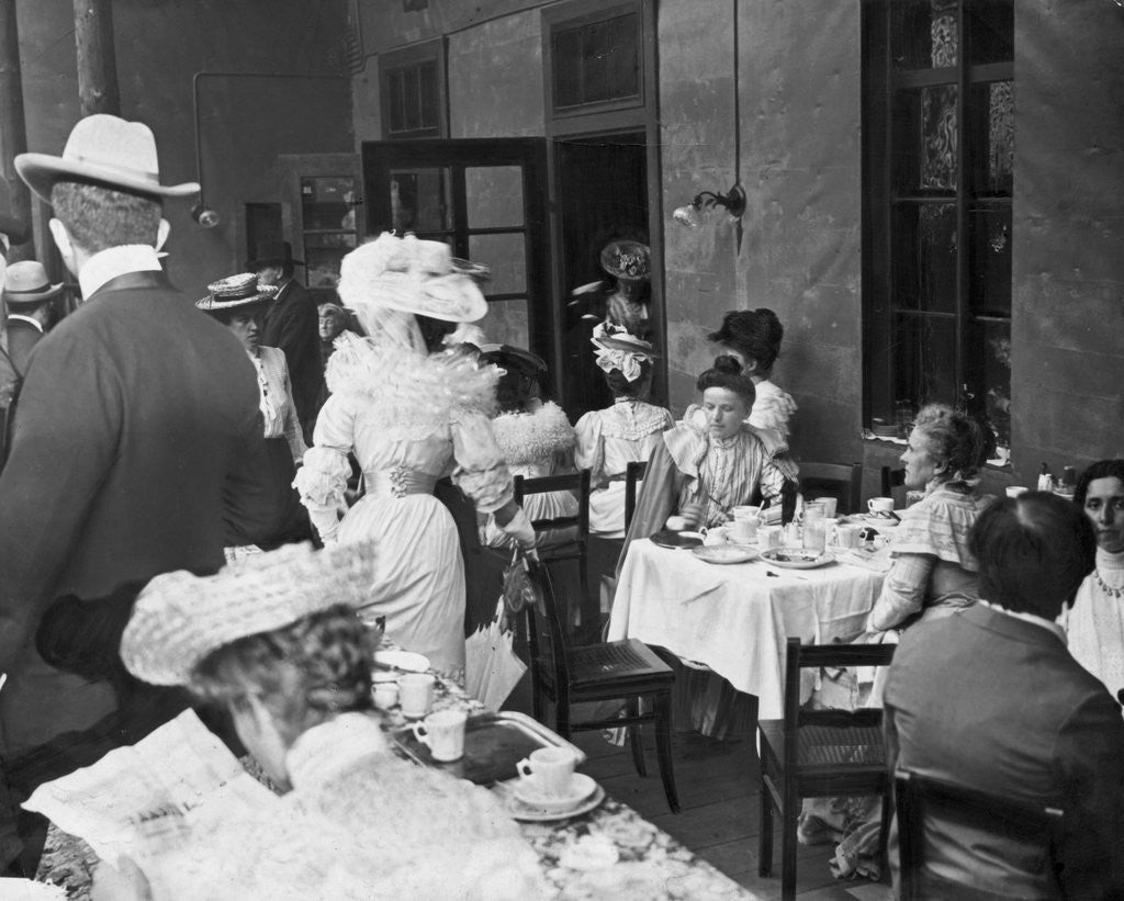 Detail of Citizens Dining at Tables by Corbis