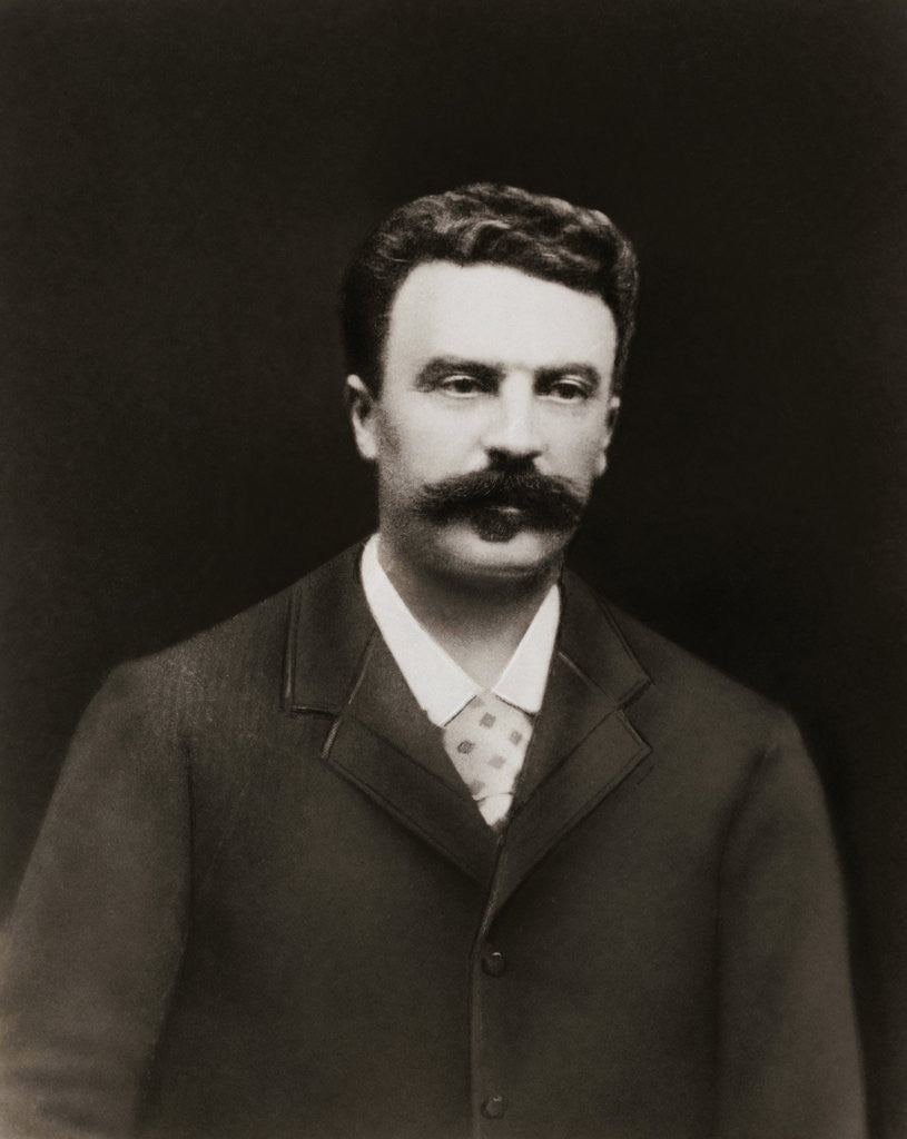 Detail of Author Guy de Maupassant by Corbis